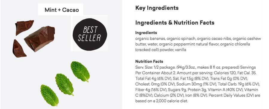 Daily Harvest Ingredients List