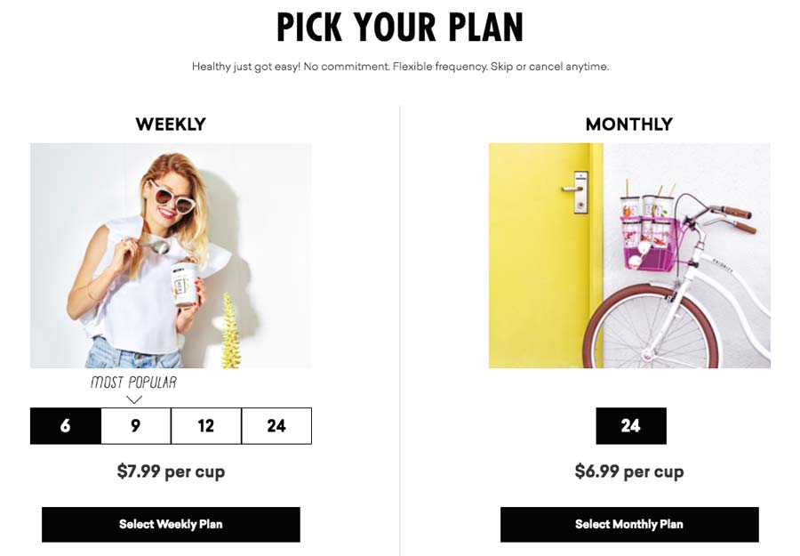 Daily Harvest Review Subscription Plan Options