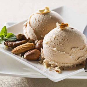 Dairy-Free Hazelnut Ice Cream made in your Blendtec or Vitamix blender by @BlenderBabes