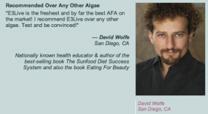 David Wolfe buy E3live blue green algae klamath lake by @BlenderBabes