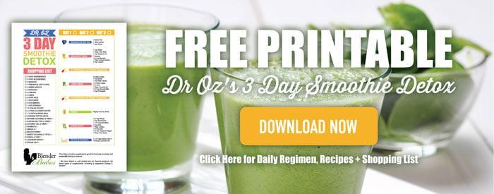 dr oz 3 day detox lunch smoothie. Black Bedroom Furniture Sets. Home Design Ideas
