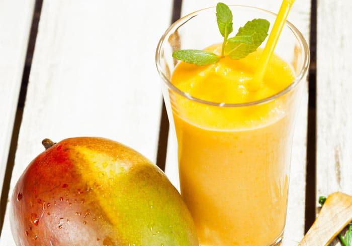 Dr Oz Peach Mango Lassi Milkshake by @BlenderBabes