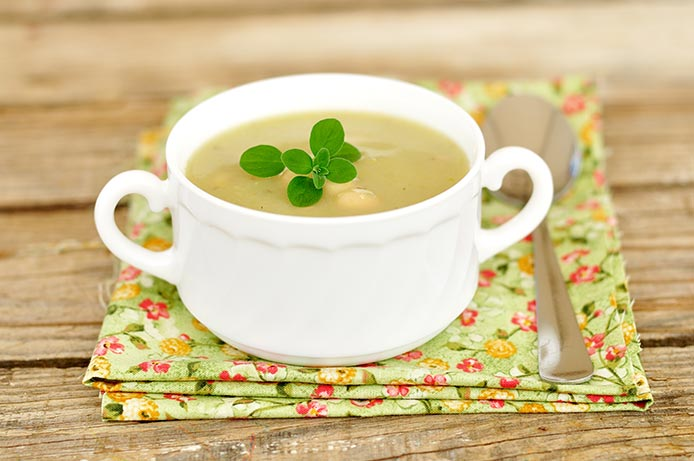 Dr Fuhrman's Creamy Vegan Vegetable Soup Recipe High Protein Low Calorie Soups via @BlenderBabes