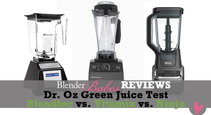 Blendtec vs Vitamix vs Ninja Dr. Oz Green Juice Test by @BlenderBabes