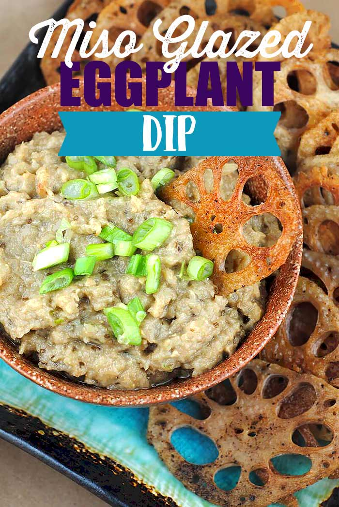 Easy Miso Glazed Eggplant Dip Recipe, Vegan Gluten-Free from @theblenderist via @blenderBabes