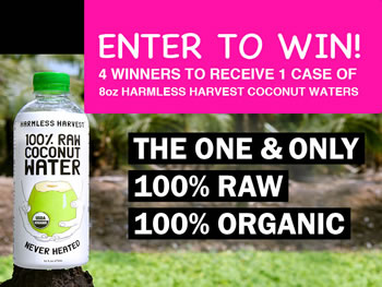Harmless Harvest Best Coconut Water Giveaway