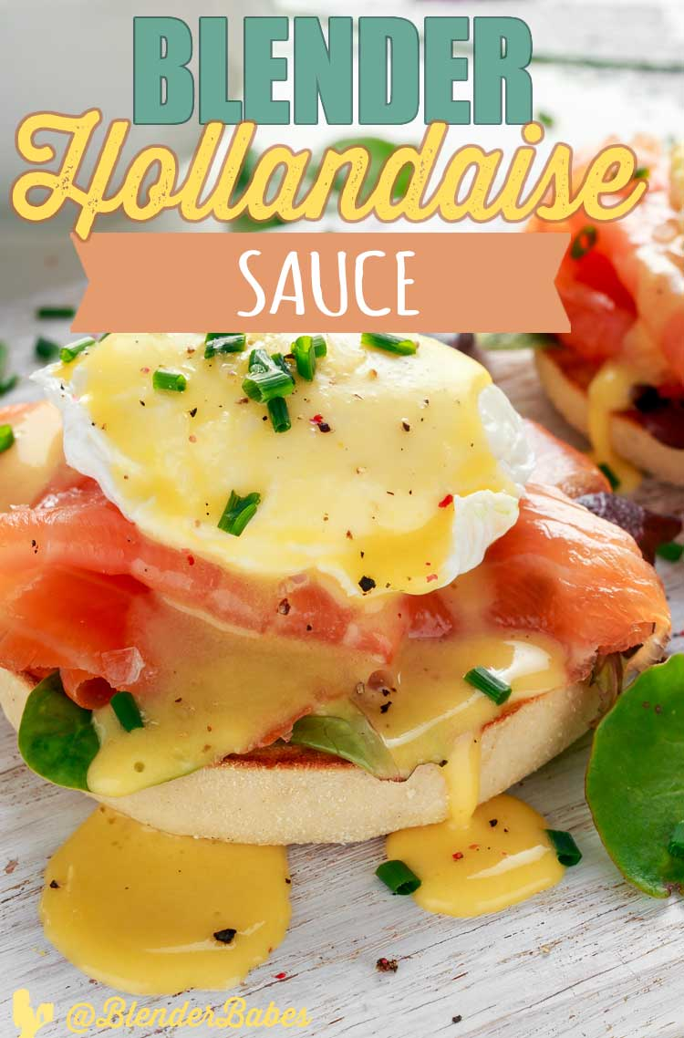 Blender Hollandaise Sauce in your vitamix by @BlenderBabes #hollandaise #hollandaisesauce #vitamixrecipes #eggsbenedict #ketorecipes #blenderbabes