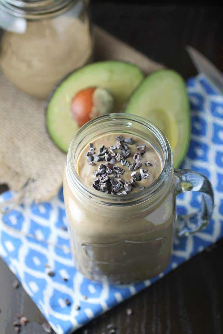 Chocolate Avocado Protein Smoothie - Smoothies Without Bananas
