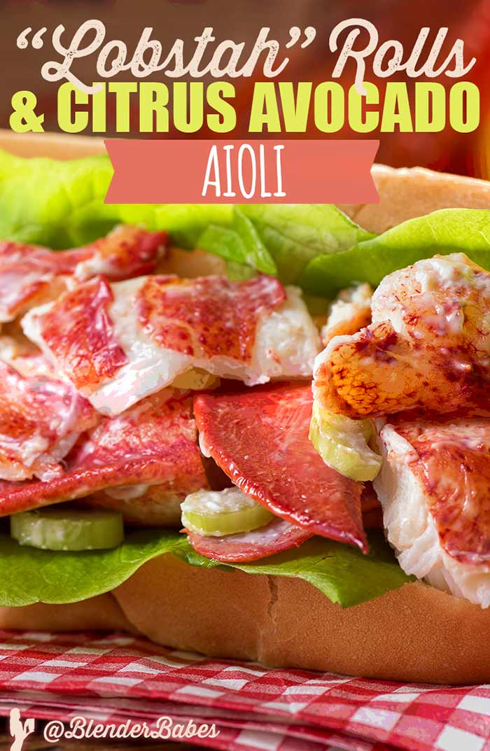 Healthy Lobster Rolls with Citrus Avocado Aioli #lobsterrolls #sandwich #mayonnaisesubstitute #lowcarb #blenderbabes