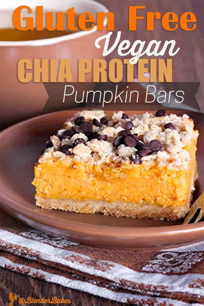 Gluten Free Vegan Chia Protein Pumpkin Bars Blender Recipe