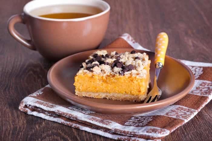 No-Bake Gluten-Free Vegan Chai Protein Pumpkin Bars