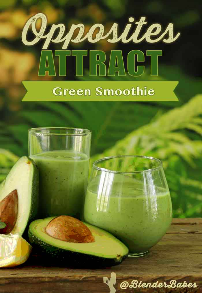 Opposites Attract Spicy Sweet Green Smoothie without Banana by @BlenderBabes #greensmoothies #kalesmoothies #healthysmoothies #smoothies #blenderbabes