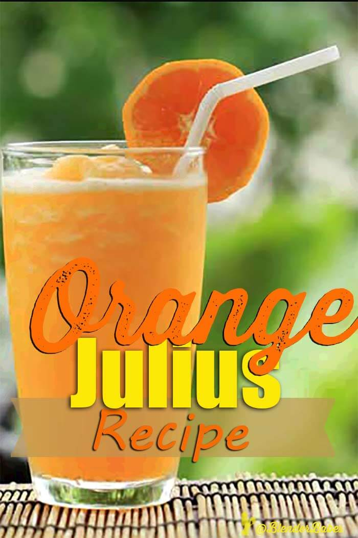 Orange Julius Blender Recipe