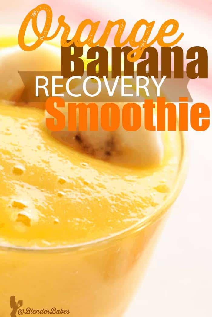 Orange Banana Recovery Smoothie Blender Recipe
