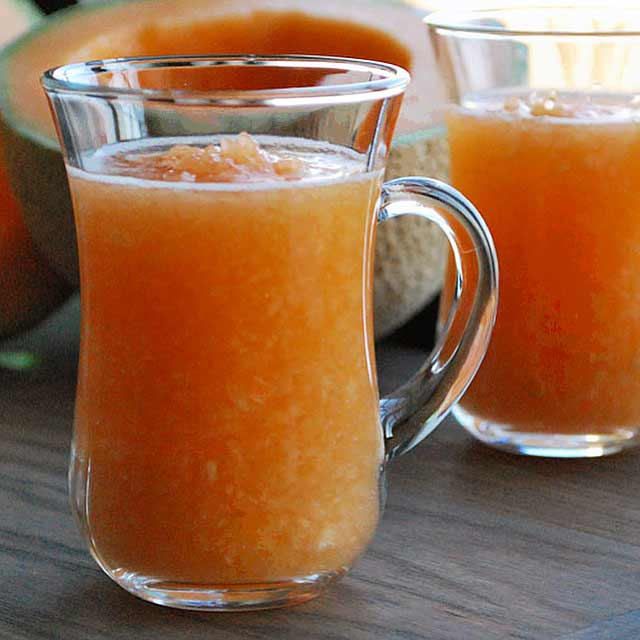 Perisan Cantaloupe Smoothie - Smoothies Without Bananas