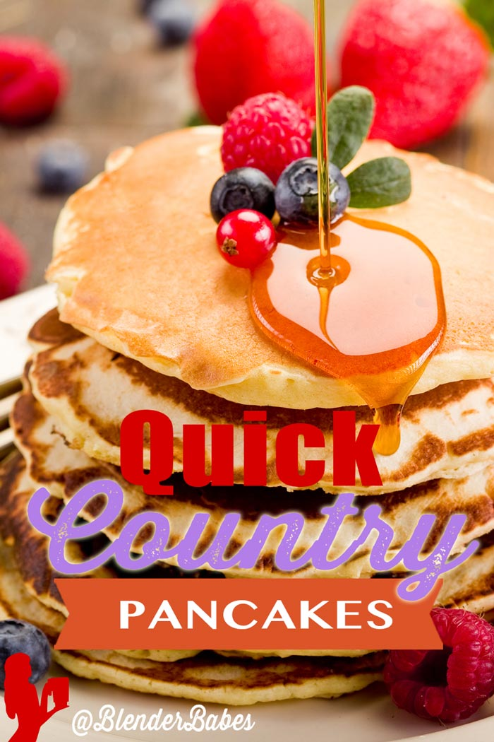 Quick Pancakes from Scratch via @BlenderBabes #pancakes #easypancakes #healthypancakes #breakfast #blenderbabes