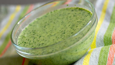 Skinny Cilantro Lime Dressing Recipe by @BlenderBabes