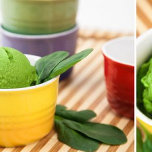 Popeye's Surprise Ice Cream made in your Blendtec or Vitamix blender by @BlenderBabes