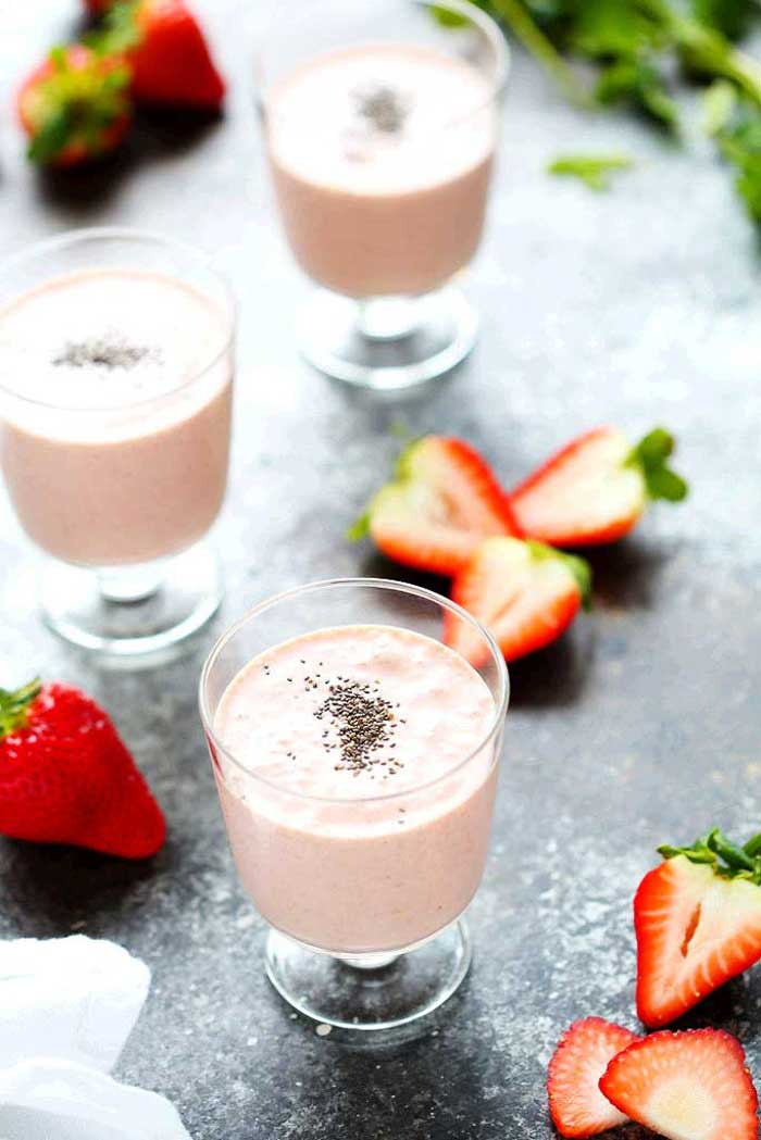 Smoothies for Kids - Healthy Strawberry Shortcake Smoothie