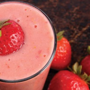 Simple Strawberry Smoothie by @BlenderBabes