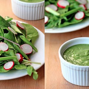 Kimberly Snyder's Sweet Basil Lime Dressing Recipe from @BlenderBabes