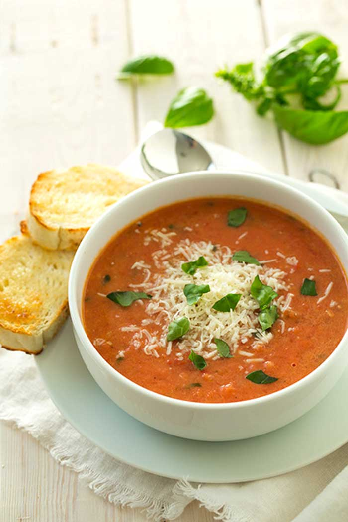 Easy Blendtec and Vitamix Soup Recipes That You Can Make In Any Blender Tomato Basil Soup