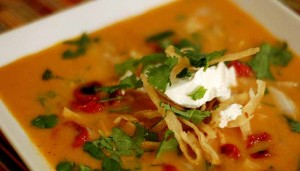 Vegetarian Tortilla Soup Recipe by @BlenderBabes