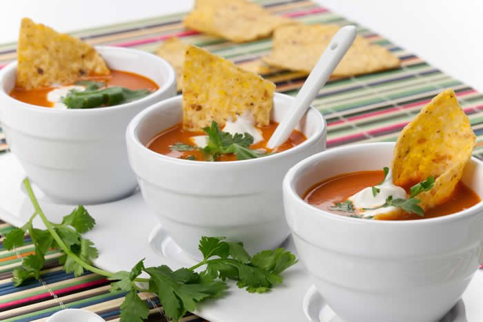 Vegetarian Tortilla Soup Recipe by Blender Babes