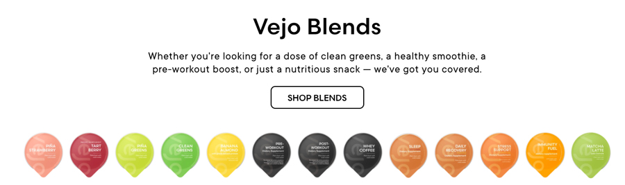 Vejo Blender Pods Nutrition