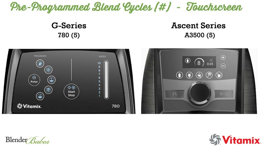 Vitamix Touchscreen Controls - Which Vitamix is Best to Buy Vitamix Review