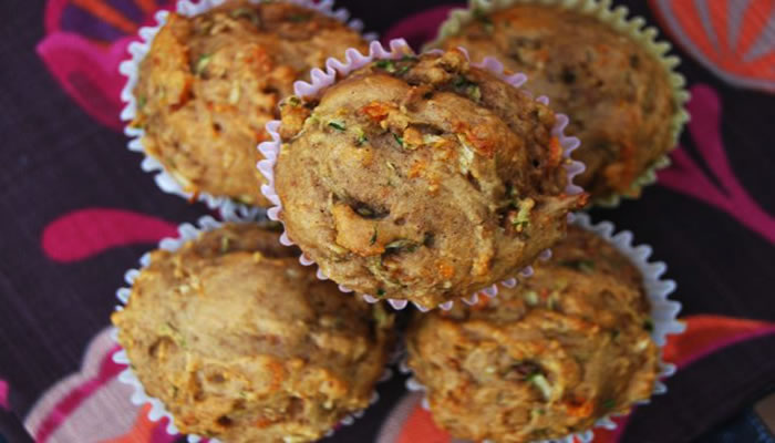 Gluten Free Zucchini Carrot Muffins from @BlenderBabes