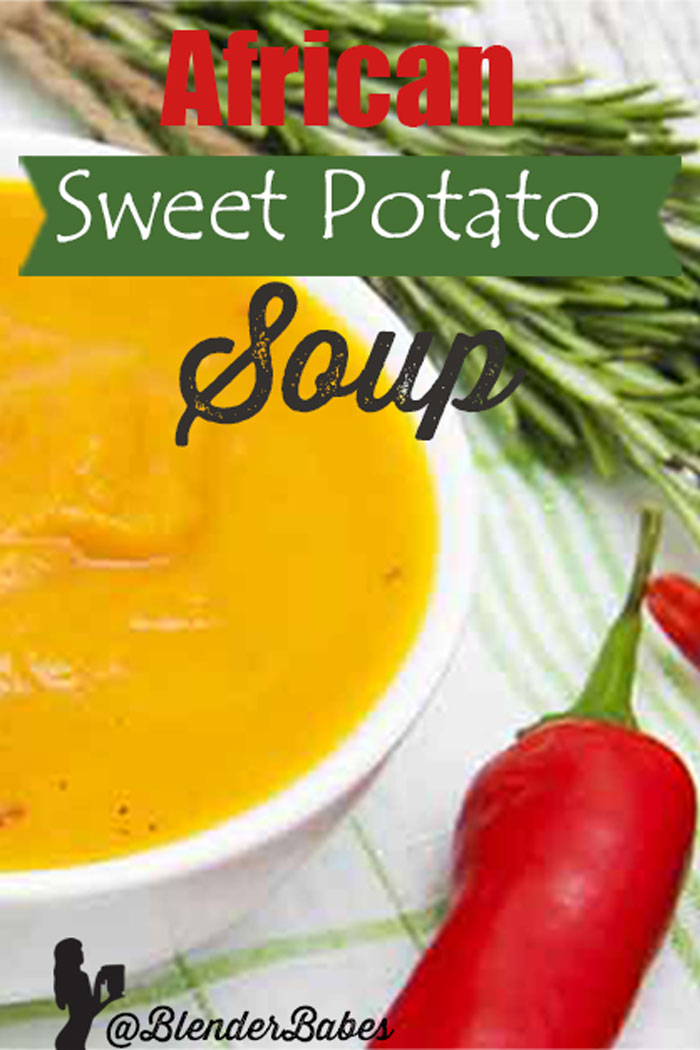 African Sweet Potato Soup Recipe by @BlenderBabes #vitamixsoup #sweetpotatosoup #africansoup #peanutsoup #blenderbabes