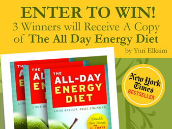All Day Energy Diet by Yuri Elkaim Book Giveaway via @BlenderBabes