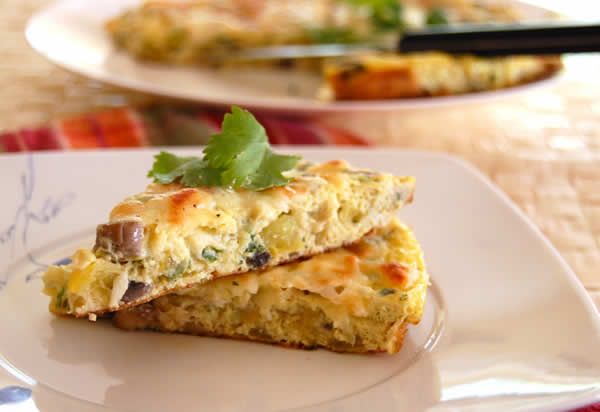 Baked Vegetable Frittata from @BlenderBabes