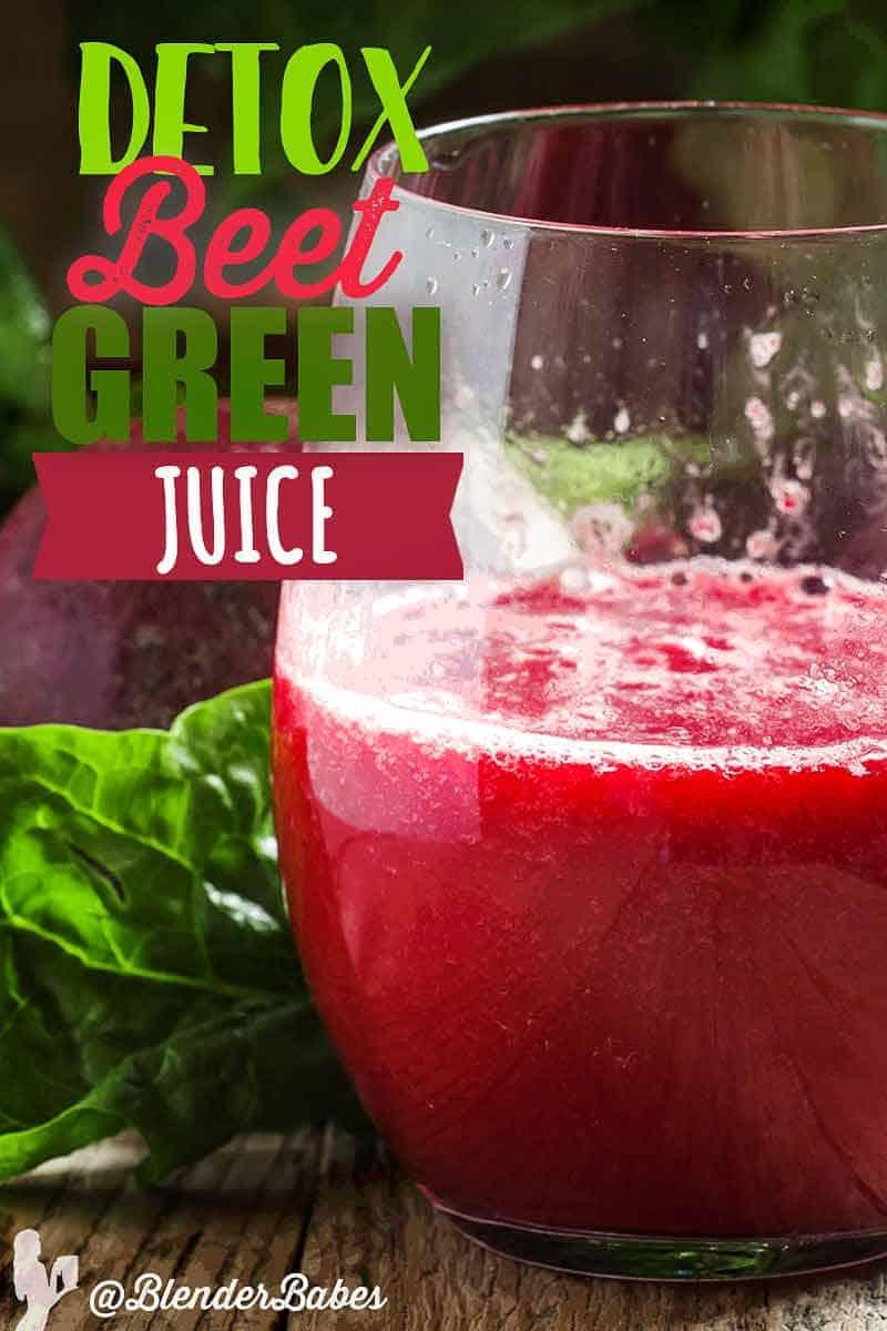 Detox Beet Green juice recipe by @BlenderBabes