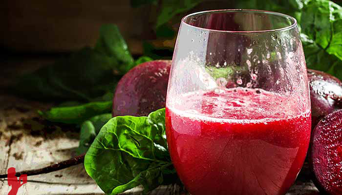 Detox Beet Green Juice Recipe by @BlenderBabes