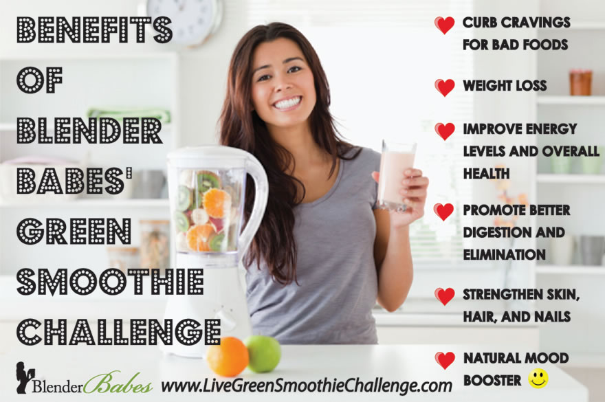 Health Benefits of @BlenderBabes' FREE Green Smoothies Challenge