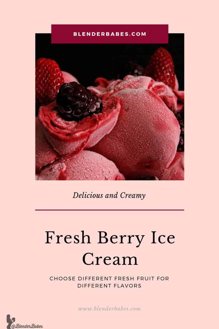 berry ice cream blender babes