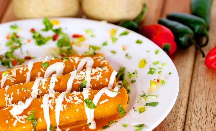 Super Easy Sweet Potato Black Bean Enchiladas