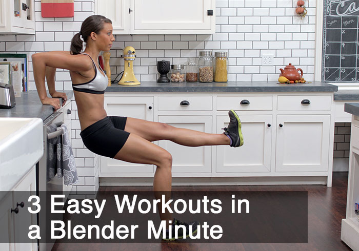3 Exercises You Can Do At Home in a Blender Minute by @BlenderBabes