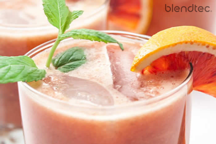 Easy Blood Orange Mojito Cocktail Recipe in your blender