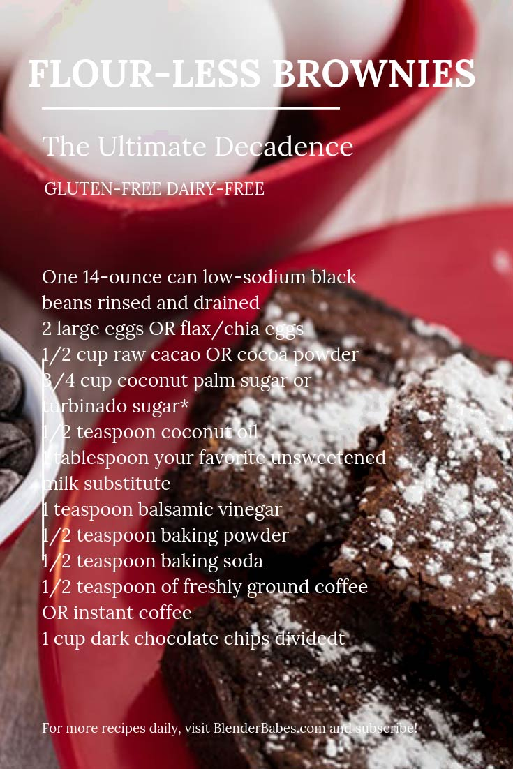Flour-less Blender Brownie Recipe