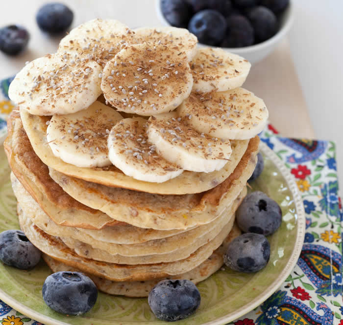 Whole Wheat Chia Seed Pancakes