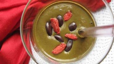 Vegan Chocolate Goji Berry Smoothie Recipe from @BlenderBabes