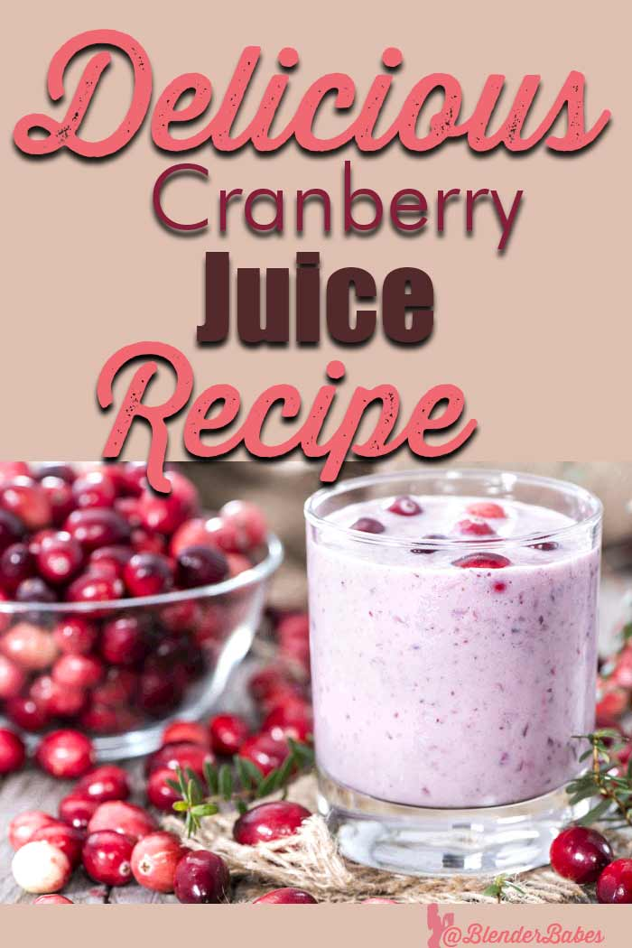 UTI cranberry juice blender recipe