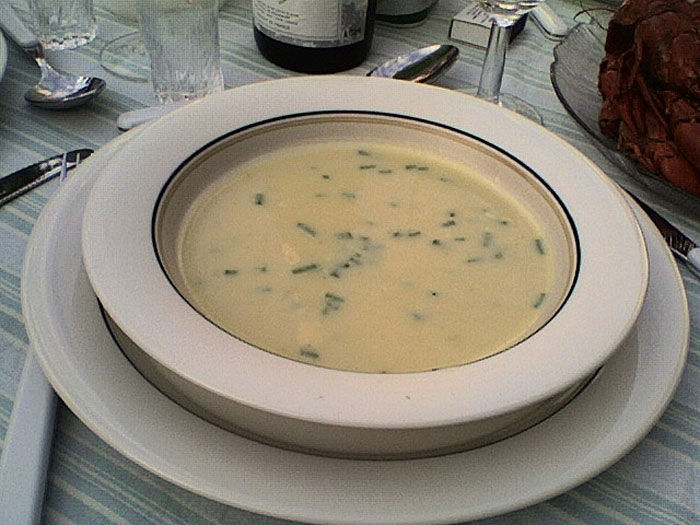Creamy Irish Potato Soup Recipe Made in a Blendtec or Vitamix by @BlenderBabes