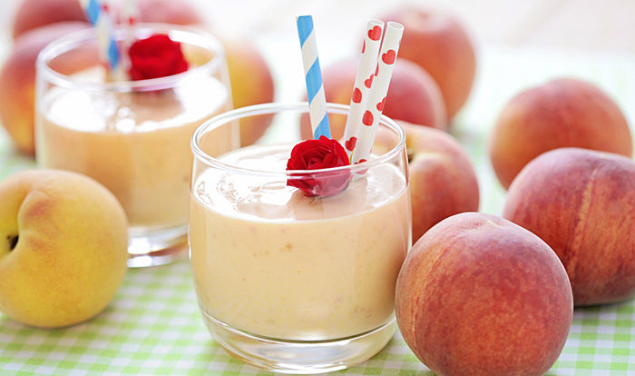 Dr. Oz Peach Apple Cobbler Smoothie - Smoothies Without Bananas