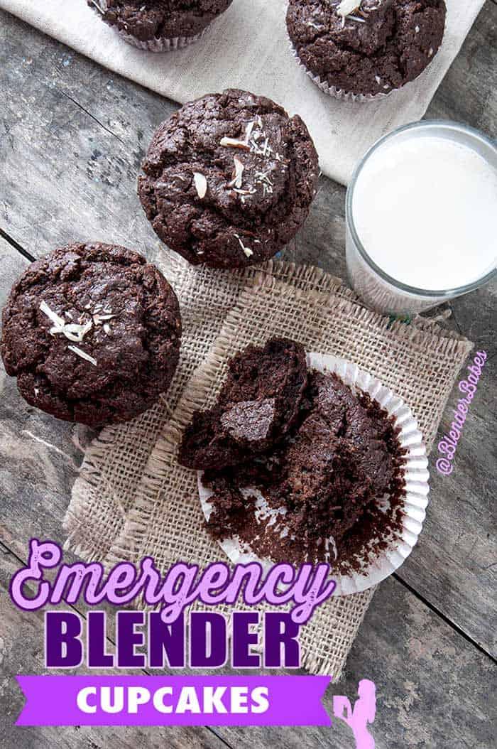 Chocolate Blender Muffins Cupcakes #blenderbabes