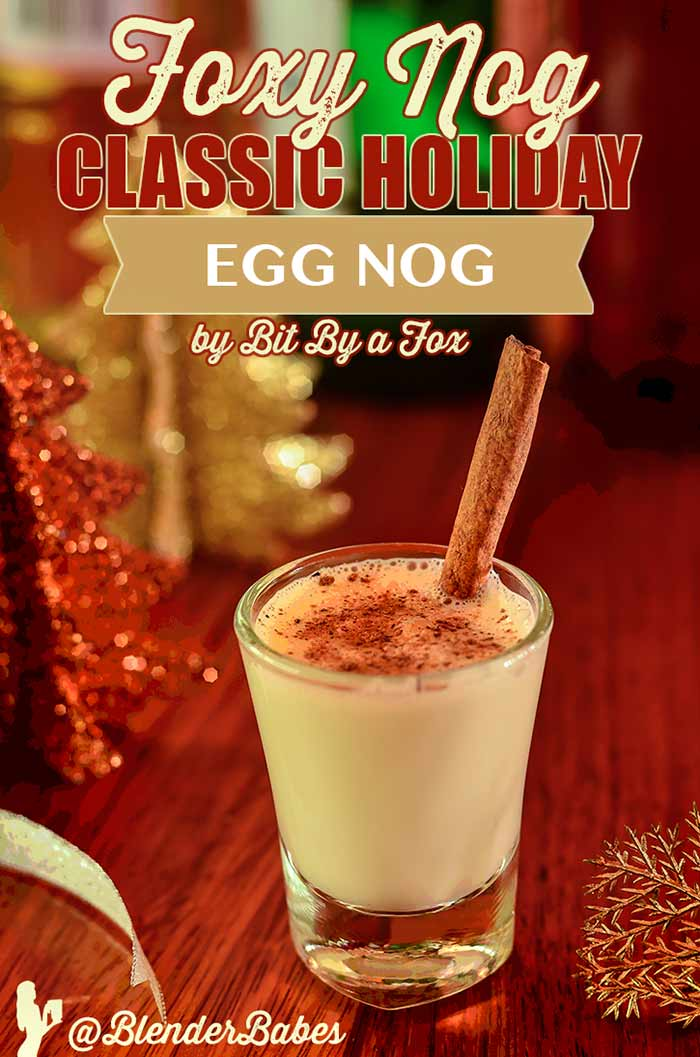Foxy nog eggnog the real deal with bit by a fox blender babes enter our latest blender giveaway forumfinder Image collections