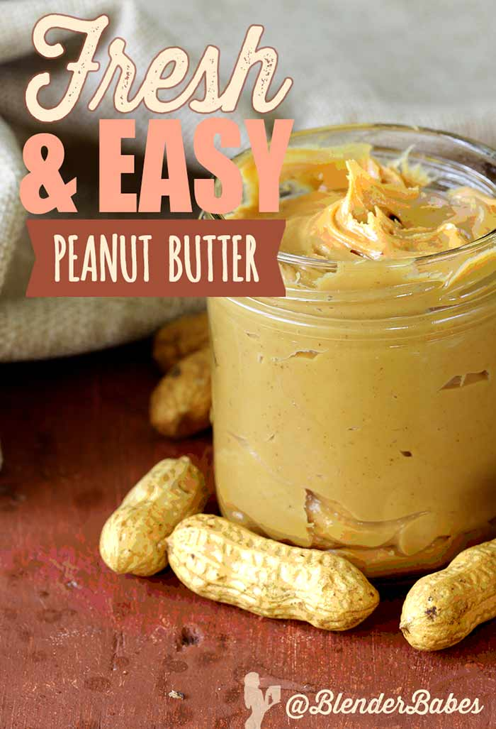 How to Make Homemade Peanut Butter in Your Blender | Blender Babes #homemade #peanutbutter #diypeanutbutter #diy #blenderbabes